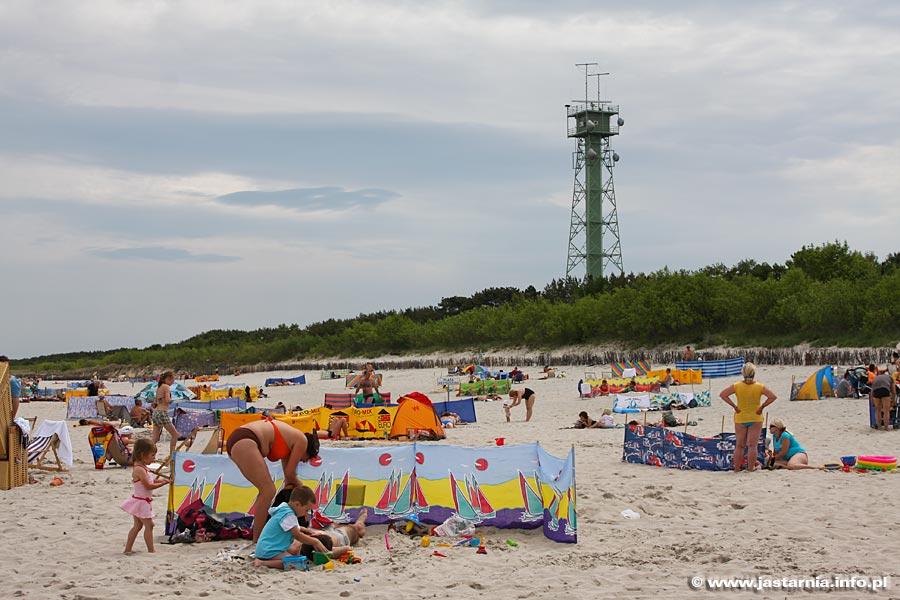 Jastarnia piaszczysta plaża na Półwyspie Helskim